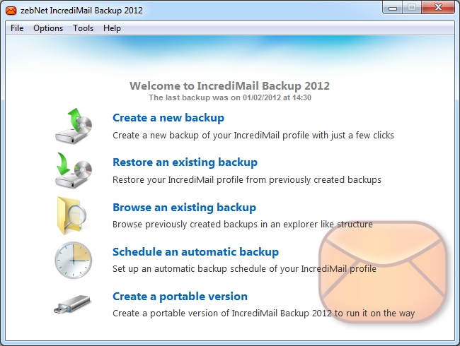 zebNet IncrediMail Backup 2012