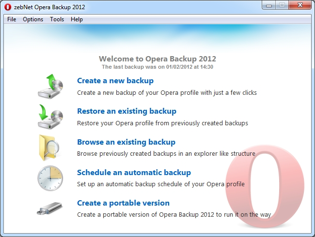 Backup your Opera profile