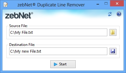 Click to view zebNet Duplicate Line Remover screenshots