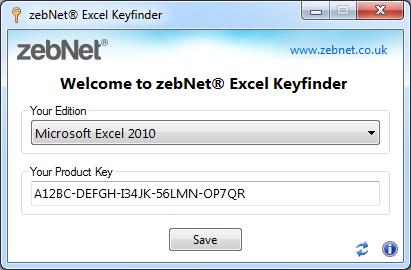 Click to view zebNet Excel Keyfinder screenshots