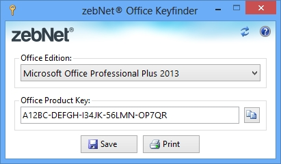 Click to view zebNet Office Keyfinder screenshots