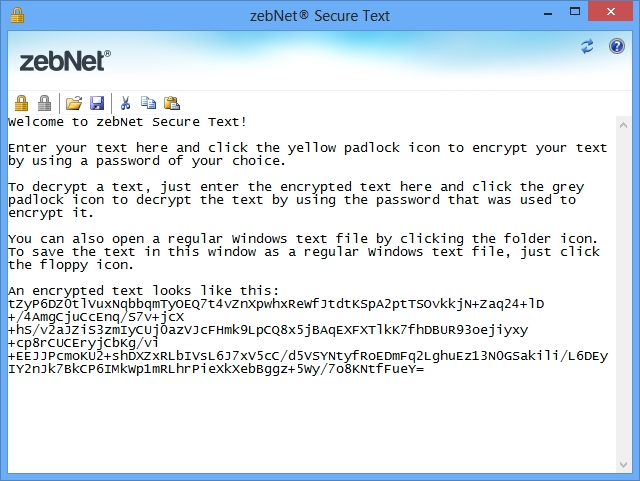Click to view zebNet Secure Text screenshots