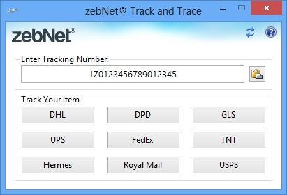 Click to view zebNet Track and Trace screenshots