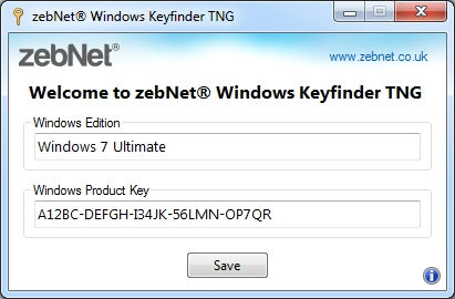 zebNet Windows Keyfinder TNG